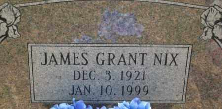 NIX, JAMES GRANT - Dallas County, Arkansas   JAMES GRANT NIX - Arkansas Gravestone Photos