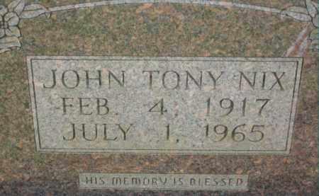NIX, JOHN TONY - Dallas County, Arkansas   JOHN TONY NIX - Arkansas Gravestone Photos