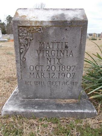 NIX, MATTIE VIRGINIA - Dallas County, Arkansas | MATTIE VIRGINIA NIX - Arkansas Gravestone Photos