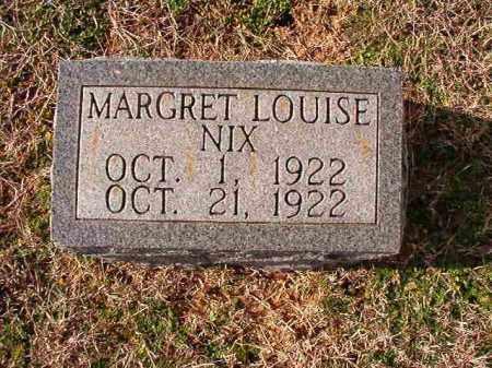 NIX, MARGARET LOUISE - Dallas County, Arkansas   MARGARET LOUISE NIX - Arkansas Gravestone Photos