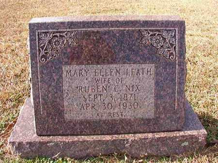 NIX, MARY ELLEN - Dallas County, Arkansas | MARY ELLEN NIX - Arkansas Gravestone Photos
