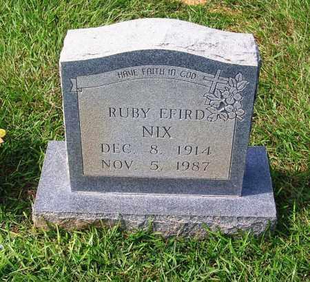 NIX, RUBY EFIRD - Dallas County, Arkansas | RUBY EFIRD NIX - Arkansas Gravestone Photos