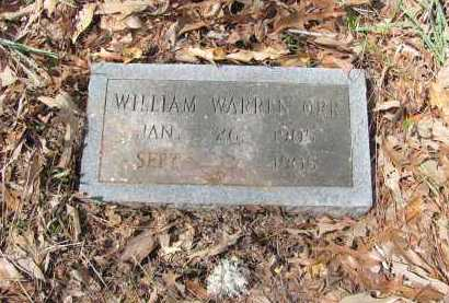 ORR, WILLIAM WARREN - Dallas County, Arkansas | WILLIAM WARREN ORR - Arkansas Gravestone Photos
