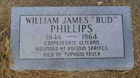"PHILLIPS (VETERAN CSA), WILLIAM JAMES ""BUD"" - Dallas County, Arkansas | WILLIAM JAMES ""BUD"" PHILLIPS (VETERAN CSA) - Arkansas Gravestone Photos"