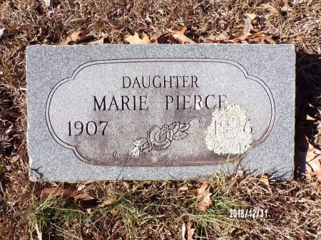PIERCE, MARIE - Dallas County, Arkansas | MARIE PIERCE - Arkansas Gravestone Photos