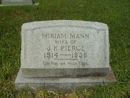 PIERCE, MIRIAM - Dallas County, Arkansas | MIRIAM PIERCE - Arkansas Gravestone Photos