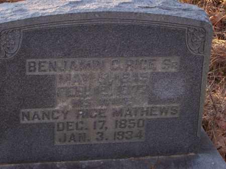 RICE MATHEWS, NANCY - Dallas County, Arkansas | NANCY RICE MATHEWS - Arkansas Gravestone Photos