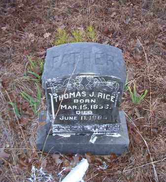 RICE, THOMAS J. - Dallas County, Arkansas | THOMAS J. RICE - Arkansas Gravestone Photos