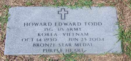 TODD (VETERAN 2 WARS), HOWARD EDWARD - Dallas County, Arkansas | HOWARD EDWARD TODD (VETERAN 2 WARS) - Arkansas Gravestone Photos