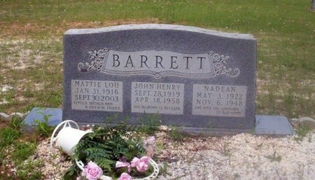 BARRETT, NADEAN - Dallas County, Arkansas | NADEAN BARRETT - Arkansas Gravestone Photos