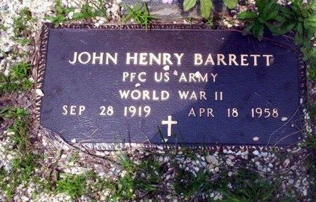 BARRETT (VETERAN WWII), JOHN HENRY - Dallas County, Arkansas | JOHN HENRY BARRETT (VETERAN WWII) - Arkansas Gravestone Photos