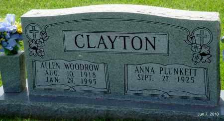 CLAYTON, ALLEN WOODROW - Desha County, Arkansas | ALLEN WOODROW CLAYTON - Arkansas Gravestone Photos