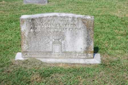 CLAYTON, ALBERTA - Desha County, Arkansas | ALBERTA CLAYTON - Arkansas Gravestone Photos