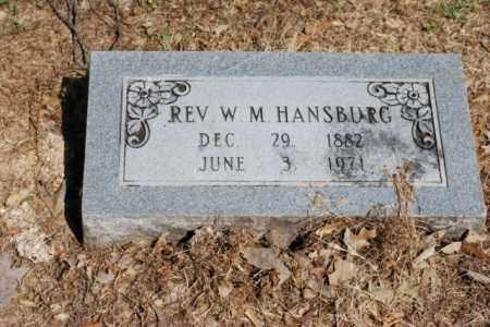 HANSBURG, W.M., REV - Desha County, Arkansas   W.M., REV HANSBURG - Arkansas Gravestone Photos