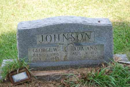 JOHNSON, GEORGE W - Desha County, Arkansas   GEORGE W JOHNSON - Arkansas Gravestone Photos