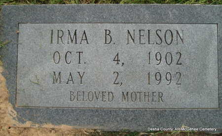 NELSON, IRMA B - Desha County, Arkansas   IRMA B NELSON - Arkansas Gravestone Photos