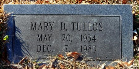 TULLOS, MARY D. (CLOSE UP) - Desha County, Arkansas | MARY D. (CLOSE UP) TULLOS - Arkansas Gravestone Photos