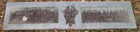 UNKNOWN, LAURA PARALEE - Drew County, Arkansas | LAURA PARALEE UNKNOWN - Arkansas Gravestone Photos