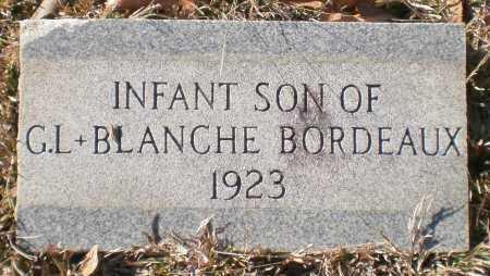BORDEAUX, INFANT SON - Drew County, Arkansas   INFANT SON BORDEAUX - Arkansas Gravestone Photos