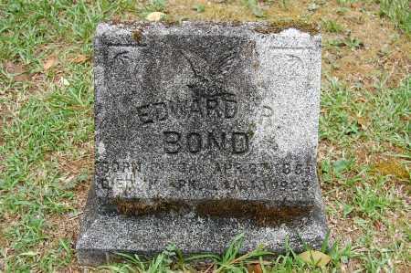 BOND, EDWARD R. - Drew County, Arkansas | EDWARD R. BOND - Arkansas Gravestone Photos