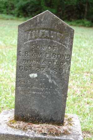 BOND, INFANT SON - Drew County, Arkansas | INFANT SON BOND - Arkansas Gravestone Photos