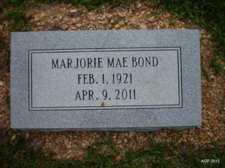 BOND, MARJORIE MAE - Drew County, Arkansas   MARJORIE MAE BOND - Arkansas Gravestone Photos