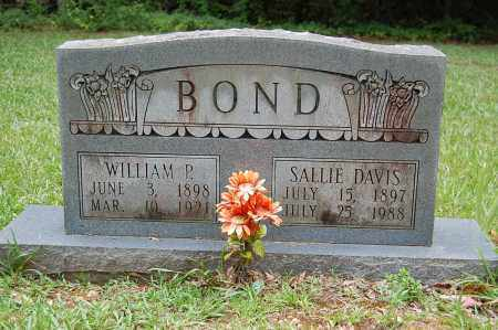 BOND, WILLIAM P. - Drew County, Arkansas | WILLIAM P. BOND - Arkansas Gravestone Photos