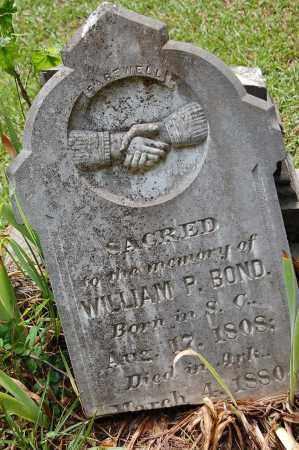 BOND, WILLIAM P. - Drew County, Arkansas | WILLIAM P. BOND - Arkansas Gravestone Photos