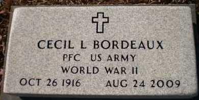 BORDEAUX (VETERAN WWII), CECIL L - Drew County, Arkansas   CECIL L BORDEAUX (VETERAN WWII) - Arkansas Gravestone Photos