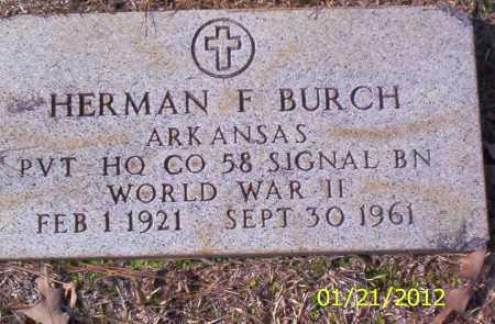 BURCH (VETERAN WWII), HERMAN F - Drew County, Arkansas   HERMAN F BURCH (VETERAN WWII) - Arkansas Gravestone Photos