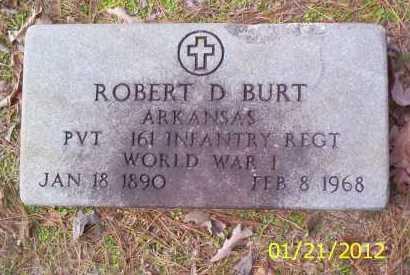 BURT (VETERAN WWI), ROBERT D - Drew County, Arkansas   ROBERT D BURT (VETERAN WWI) - Arkansas Gravestone Photos