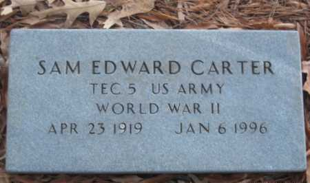 CARTER (VETERAN WWII), SAM EDWARD - Drew County, Arkansas | SAM EDWARD CARTER (VETERAN WWII) - Arkansas Gravestone Photos