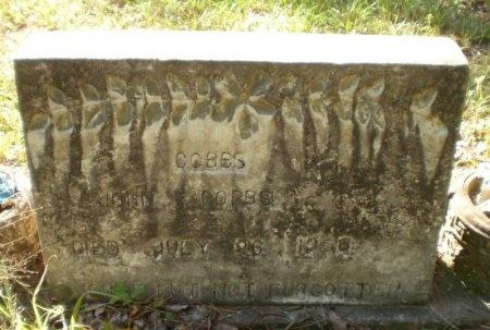 COBBS, JOHN - Drew County, Arkansas   JOHN COBBS - Arkansas Gravestone Photos