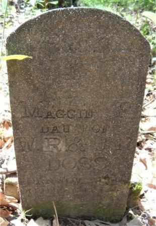 DOSS, MAGGIE F - Drew County, Arkansas | MAGGIE F DOSS - Arkansas Gravestone Photos