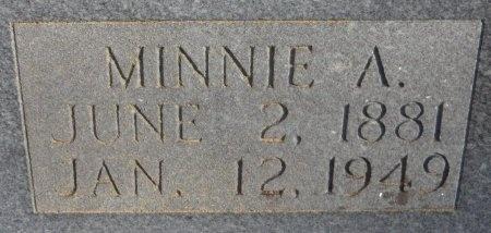 ELLIS, MINNIE A (CLOSE UP) - Drew County, Arkansas   MINNIE A (CLOSE UP) ELLIS - Arkansas Gravestone Photos