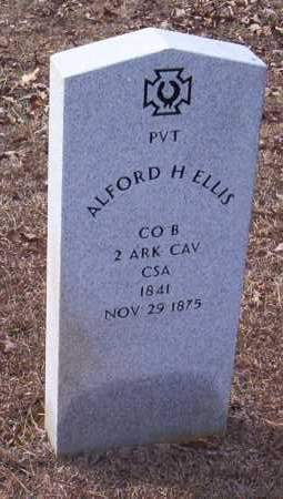 ELLIS (VETERAN CSA), ALFORD H - Drew County, Arkansas | ALFORD H ELLIS (VETERAN CSA) - Arkansas Gravestone Photos