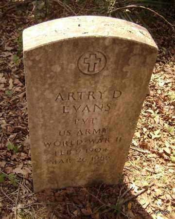 EVANS (VETERAN WWII), ARTRY D - Drew County, Arkansas | ARTRY D EVANS (VETERAN WWII) - Arkansas Gravestone Photos