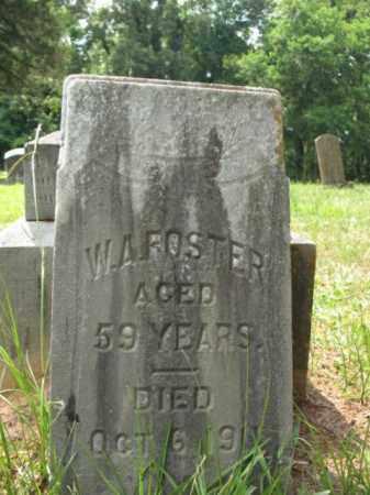 FOSTER, W A - Drew County, Arkansas   W A FOSTER - Arkansas Gravestone Photos