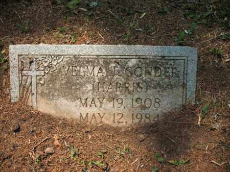 HARRIS GONDER, VELMA T - Drew County, Arkansas | VELMA T HARRIS GONDER - Arkansas Gravestone Photos