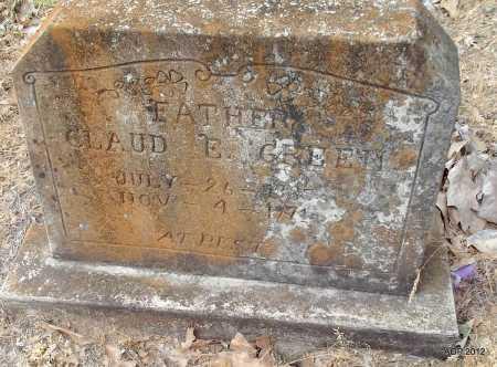 GREEN, CLAUD E - Drew County, Arkansas | CLAUD E GREEN - Arkansas Gravestone Photos