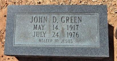 GREEN, JOHN D. - Drew County, Arkansas   JOHN D. GREEN - Arkansas Gravestone Photos