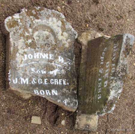 GREEN, JOHNIE A (ORIGINAL STONE) - Drew County, Arkansas   JOHNIE A (ORIGINAL STONE) GREEN - Arkansas Gravestone Photos
