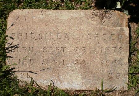 GREEN, PRISCILLA - Drew County, Arkansas | PRISCILLA GREEN - Arkansas Gravestone Photos