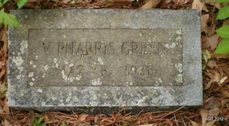 GREEN, V PHARRIS - Drew County, Arkansas | V PHARRIS GREEN - Arkansas Gravestone Photos