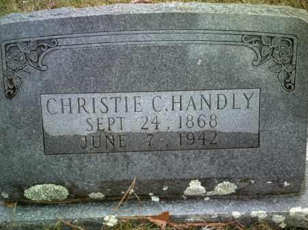 HANDLY, CHRISTIE C. - Drew County, Arkansas   CHRISTIE C. HANDLY - Arkansas Gravestone Photos