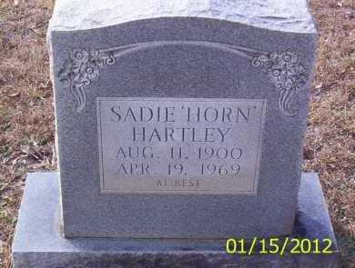 HARTLEY, SADIE - Drew County, Arkansas | SADIE HARTLEY - Arkansas Gravestone Photos
