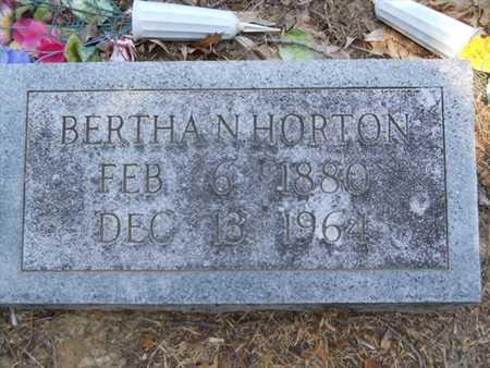 HORTON, BERTHA N - Drew County, Arkansas | BERTHA N HORTON - Arkansas Gravestone Photos
