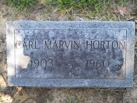HORTON, CARL MARVIN - Drew County, Arkansas | CARL MARVIN HORTON - Arkansas Gravestone Photos