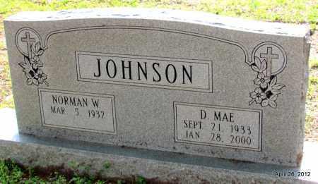 JOHNSON, D MAE - Drew County, Arkansas | D MAE JOHNSON - Arkansas Gravestone Photos