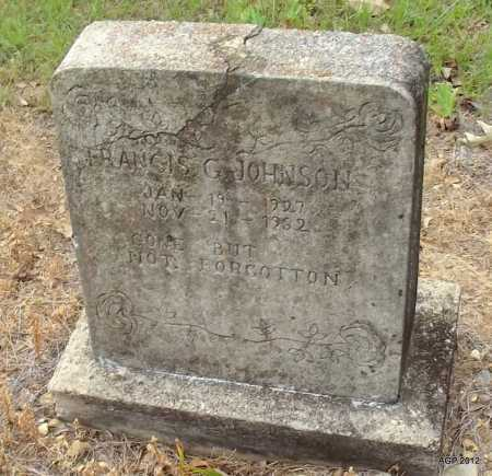 JOHNSON, FRANCIS G - Drew County, Arkansas | FRANCIS G JOHNSON - Arkansas Gravestone Photos